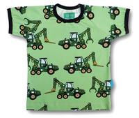 Forest machine, short sleeve shirt. Jersey, organic cotton
