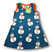 Snowman, sleeveless dress. College (French terry), organic cotton