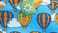 Hot airballoons, short sleeve shirt. Jersey, organic cotton