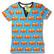 Fire truck. adults Ss shirt, V-nec. Jersey, organic cotton
