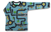 Daddys playground, long sleeve shirt. Jersey, organic cotton