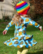 Hot airballoons. Frill dress. Jersey, organic cotton