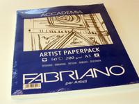 Fabriano taiteilijapaperi A3 200g 50 arkkia