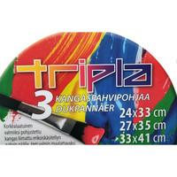 TRIPLA Kangaspahvipohjapakkaus 3 kpl