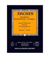 Vesivärilehtiö Arches 23cm x 31cm karkea 300g 12 sivua
