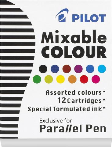 Eri värisiä musteita Parallel Pen kynään 12kpl