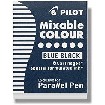 Musta muste Parallel Pen kynään