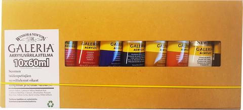 Akryylivärit Galeria 10x60ml tuubit