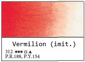 White Nights akvarellinappi 312 Vermilion (hue)