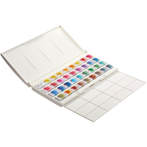 White Nights akvarellisetti 36 nappia muovikotelo