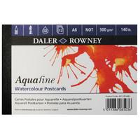 DR Aquafine postikorttilehtiö 300g A6 puolikarkea