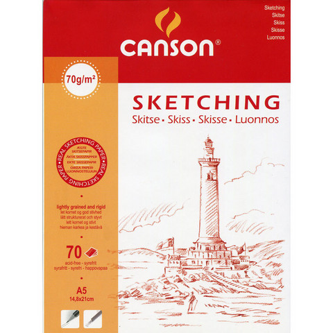 Luonnoslehtiö Canson Sketching A5 70g