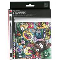 Marabu Graphix aqua pen Mega Mash 12 kynää