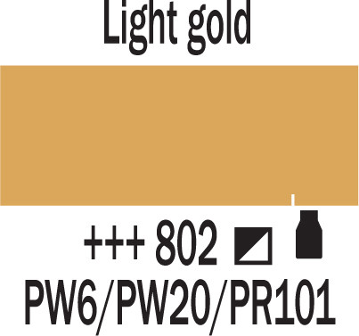 Amsterdam 500ml 802 light gold