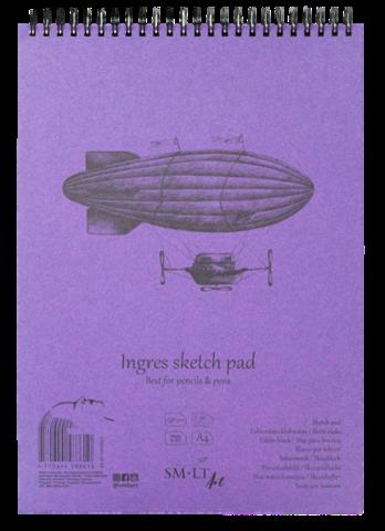 Pastellipaperilehtiö SMLT A4 130g 30 sivua kierreselkä