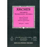 Vesivärilehtiö Arches A4 sileä 300g