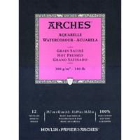 Vesivärilehtiö Arches A3 sileä 300g 12 sivua