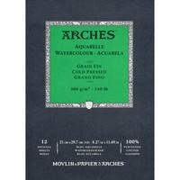 Vesivärilehtiö Arches A4 puolikarkea 300g