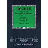 Vesivärilehtiö Arches A3 puolikarkea 300g 12 sivua