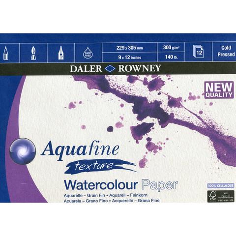 Vesivärilehtiö DR Aquafine A4 puolikarkea 300g 12 sivua