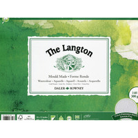 Vesivärilehtiö DR Langton 30x40cm puolikarkea 300g 12 sivua