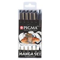 Sakura Pigma Manga set 6 kynää
