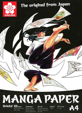 Tussipaperi Sakura Manga Paperi A4 250gm 20 sivua
