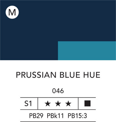 L&B Flashe Acrylic 80ml 046 Prussian Blue
