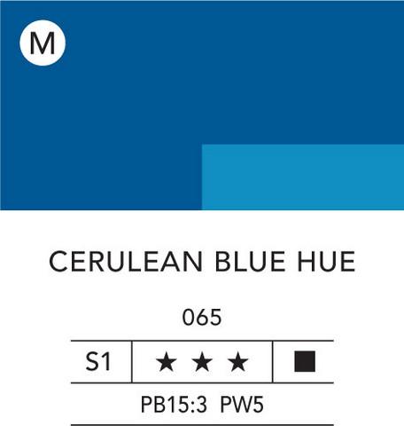 L&B Flashe Acrylic 80ml 065 Cerulean Blue Hue