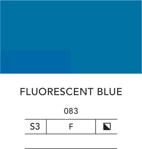 L&B Flashe Acrylic 80ml 083 Fluorescent blue