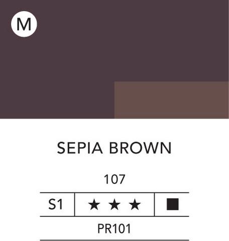 L&B Flashe Acrylic 80ml 107 Sepia Brown