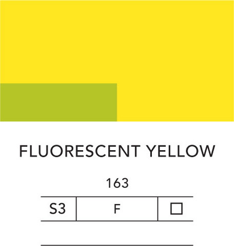 L&B Flashe Acrylic 80ml 163 Fluorescent yellow