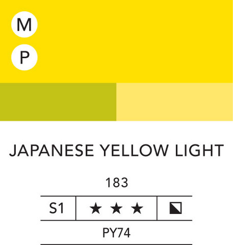 L&B Flashe Acrylic 80ml 183 Japanese yellow lite