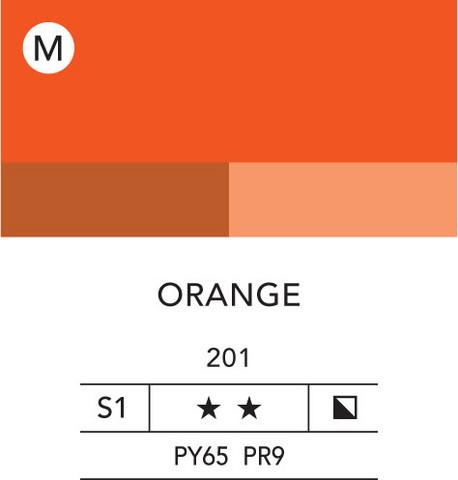 L&B Flashe Acrylic 80ml 201 Orange