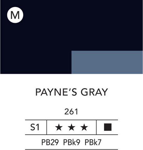 L&B Flashe Acrylic 80ml 261 Payne's Grey