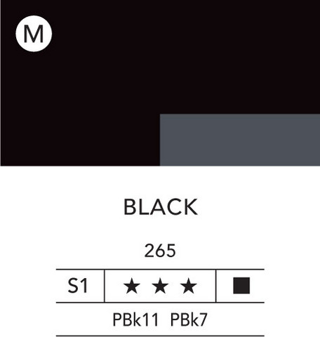 L&B Flashe Acrylic 80ml 265 Black
