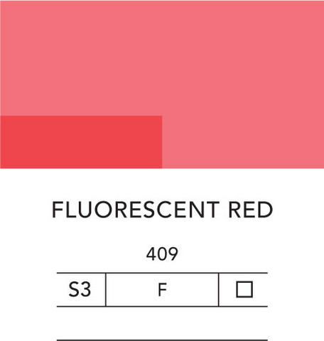 L&B Flashe Acrylic 80ml 409 Fluorescent red