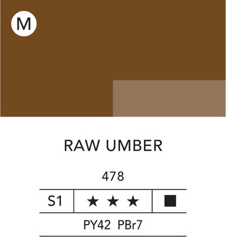 L&B Flashe Acrylic 80ml 478 Raw Umber