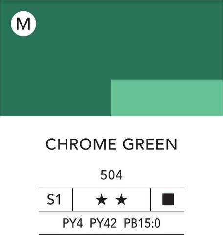 L&B Flashe Acrylic 80ml 504 Chrome Green