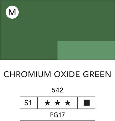L&B Flashe Acrylic 80ml 542 Chromium Oxide Green