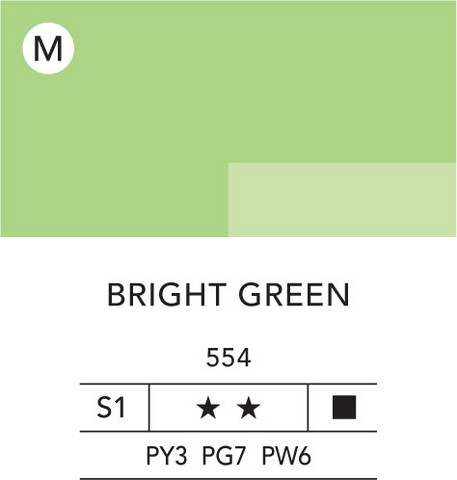 L&B Flashe Acrylic 80ml 554 Bright green
