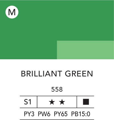 L&B Flashe Acrylic 80ml 558 Brilliant Green