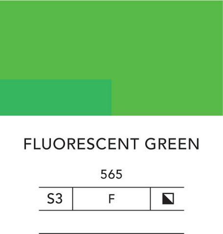 L&B Flashe Acrylic 80ml 565 Fluorescent Green