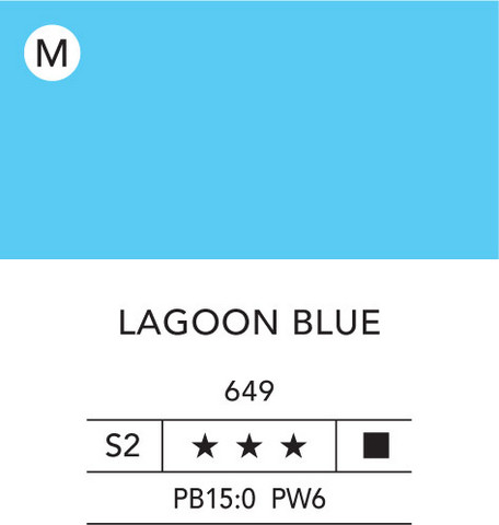 L&B Flashe Acrylic 80ml 649 Lagoon blue