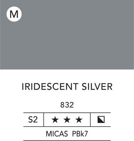L&B Flashe Acrylic 80ml 832 Silver Iridescent