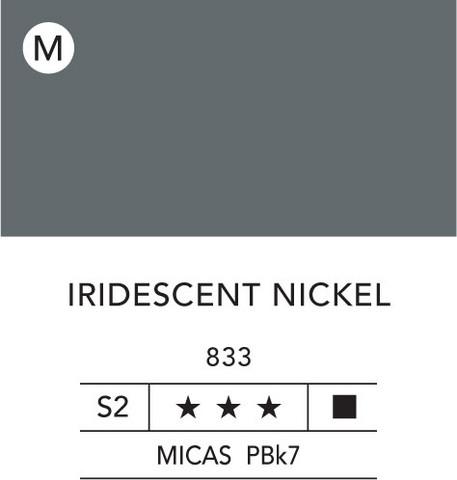 L&B Flashe Acrylic 80ml 833 Nickel iridescent