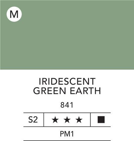 L&B Flashe Acrylic 80ml 841 Green earth iridesce