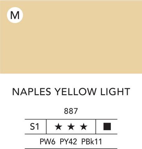 L&B Flashe Acrylic 80ml 887 Naples Yellow Light