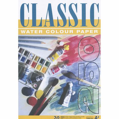 Akvarellilehtiö Classic A3 250g 20 arkkia