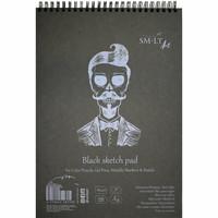 Piirustuslehtiö SMLT musta, A4 165g 30 sivua